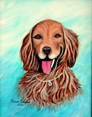 Painting - Golden Retriever by Fram Cama