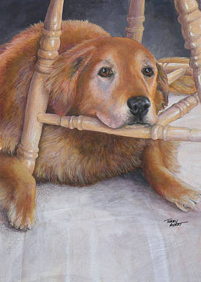 Painting - Golden Retriever by Terry Albert