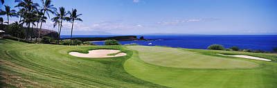 Non-urban Scene Photograph - Golf Course At The Oceanside, The by Panoramic Images