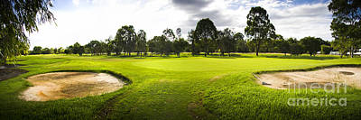 Sports Royalty-Free and Rights-Managed Images - Golf Course Landscape Panorama by Jorgo Photography