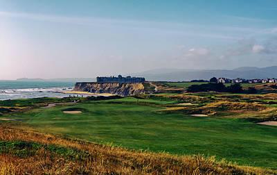 Golf Course On Half Moon Bay Art Print