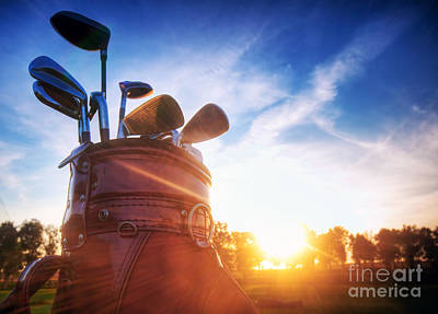 Golf Gear Art Print by Michal Bednarek