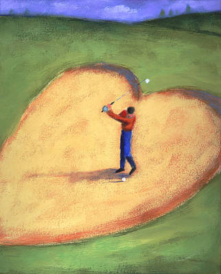 Practice Gallery Painting - Golf by Steve Dininno