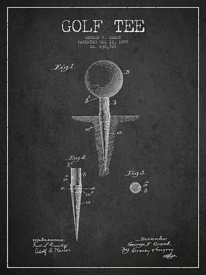 Sports Royalty-Free and Rights-Managed Images - Golf Tee Patent Drawing From 1899 by Aged Pixel
