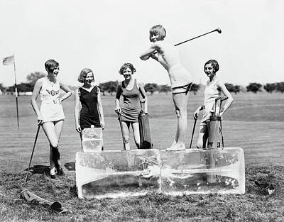 Photograph - Golfing, 1926 by Granger