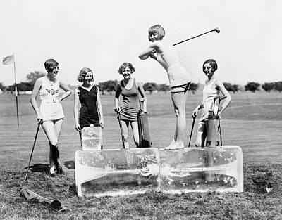 Photograph - Golfing, 1926 by Granger