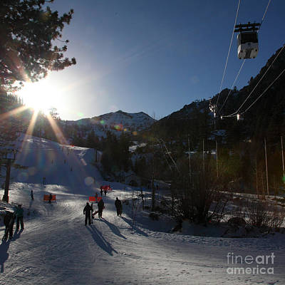 Gondola At Squaw Valley Usa 5d27688 Square Art Print