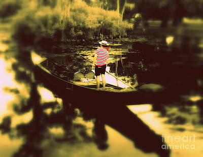 Photograph - Gondola Hauntings In City Park New Orleans Louisiana 5 by Michael Hoard