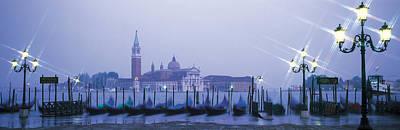 Gondolas San Giorgio Maggiore Venice Art Print