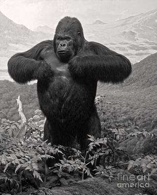 Photograph - Gorilla by Gregory Dyer