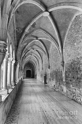 Catholic Photograph - Gothic Cloister  by Jose Elias - Sofia Pereira