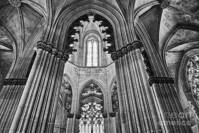 Gothic Columns Art Print