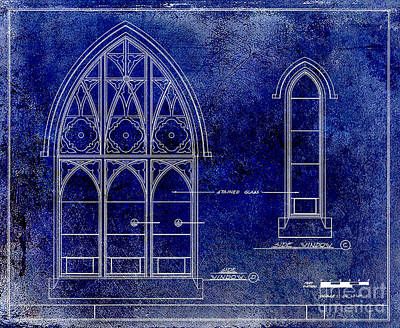 Gothic Drawing - Gothic Window Detail by Jon Neidert