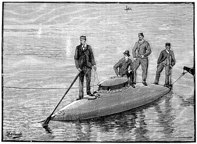 1880s Photograph - Goubet Submarine, 1880s by Science Photo Library