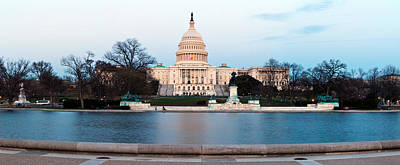 Government Building At Dusk, Capitol Art Print