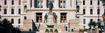 Governor Oliver Morton Monument Art Print by Panoramic Images