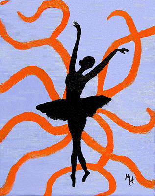 Physique Painting - Graceful Silhouette by Margaret Harmon