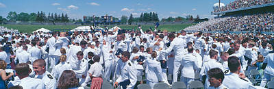 Annapolis Photograph - Graduation At Naval Academy, Annapolis by Panoramic Images