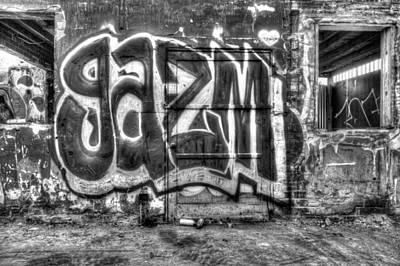 Graffiti Door Art Print by Purple Moon