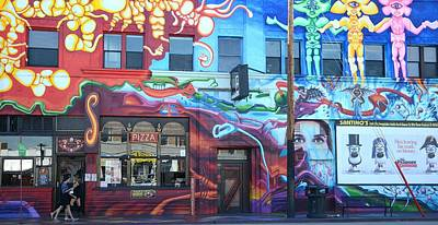 Photograph - Graffiti Pizza Joint 2 by Fraida Gutovich