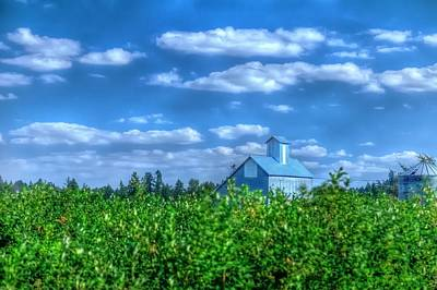 Jerry Sodorff Royalty-Free and Rights-Managed Images - Grain Bin Elevator and Vineyard 17024 by Jerry Sodorff
