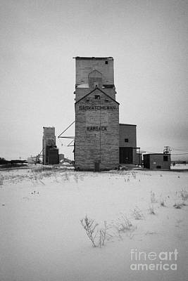 grain elevator Kamsack Saskatchewan Canada Art Print by Joe Fox