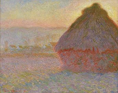 Boston Painting - Grainstack by Claude Monet