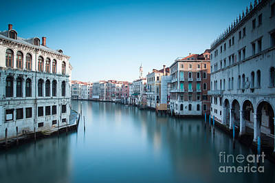 Grand Canal At Sunrise Venice Italy Art Print by Matteo Colombo