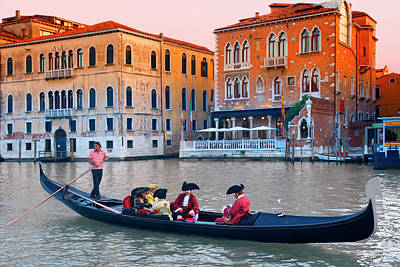 Traditional Clothing Photograph - Grand Canal  In Venice by Visions Of Our Land