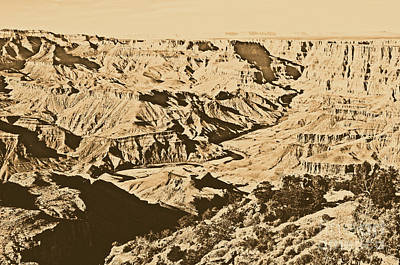 Grand Canyon Eastern Sunset View Rustic Art Print by Shawn O'Brien