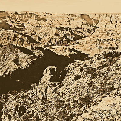 Grand Canyon Eastern Sunset View Square Rustic Art Print by Shawn O'Brien