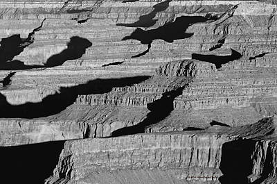 Photograph - Grand Canyon Natural Staircase Black And White  by Nature Scapes Fine Art