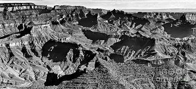Photograph - Grand Canyon Navajo Point Panorama At Sunrise  by Bob and Nadine Johnston
