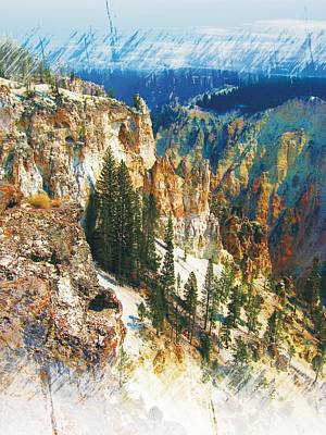 Photograph - Grand Canyon Of The Yellowstone by Joe Duket