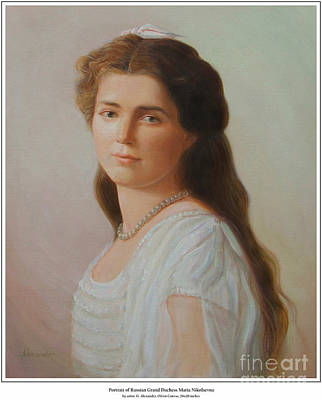 Grand Duchess Maria Nikolaevna Of Russia Original