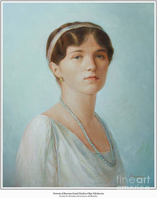 Grand Duchess Olga Nikolaevna Of Russia Original