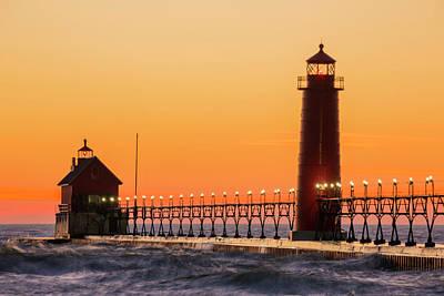 Grand Haven South Pier Lighthouse Art Print