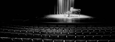 In A Row Photograph - Grand Piano On A Concert Hall Stage by Panoramic Images