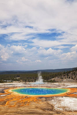 Photograph - Grand Prismatic Spring by Bryan Mullennix