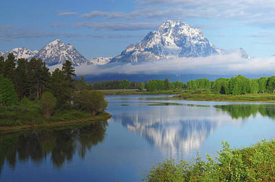 Grand Tetons From The Oxbow, Grand Art Print by Michel Hersen