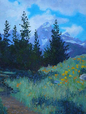 Grand Tetons Art Print by Susan Woodward