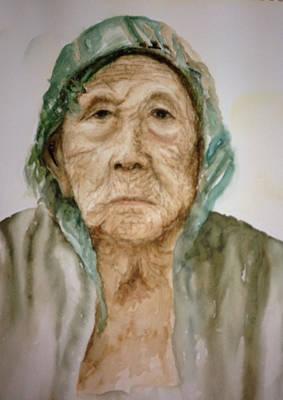 Grandma Art Print by Sam Swarup