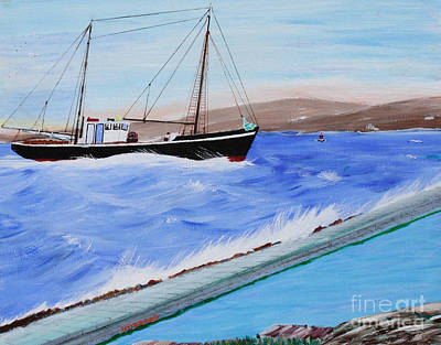 Painting - Grandpa's Boat by Bill Hubbard