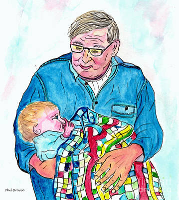 Grandpas Bundle Of Joy Art Print