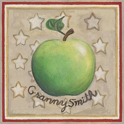 Fruit Painting - Granny Smith Apple Two by Linda Mears