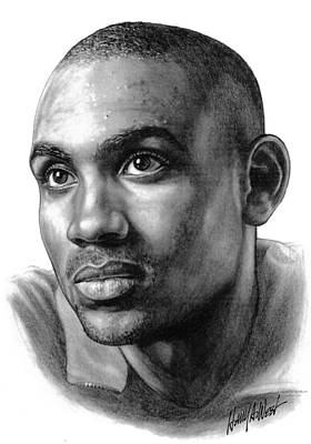 Los Angeles Drawing - Grant Hill by Harry West