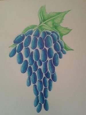 Grapes Art Print by Emese Varga