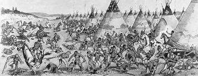 Grattan Massacre, 1854 Print by Granger