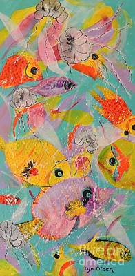 Painting - Great Barrier Reef Fish by Lyn Olsen
