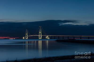 Photograph - Great Belt Bridge by Jorgen Norgaard